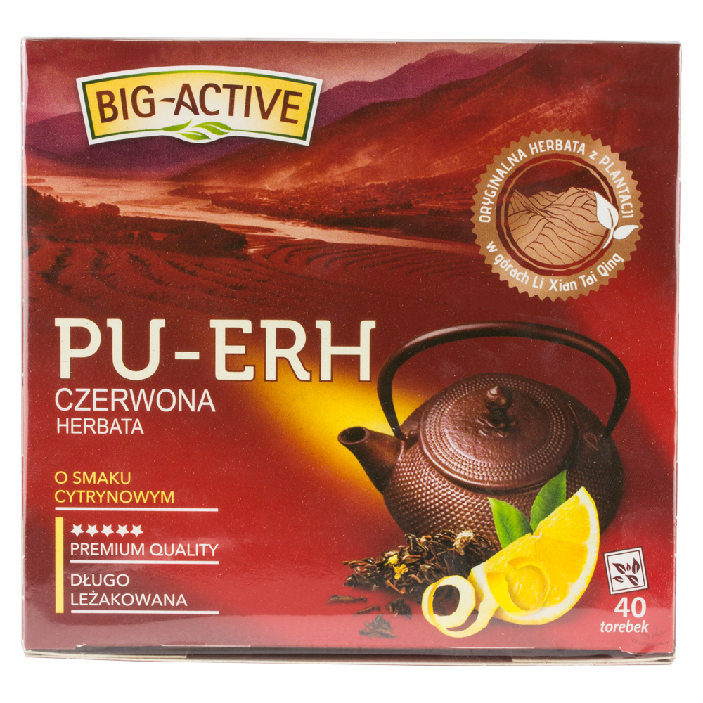 Big - Active  PU-ERH Roter Tee mit Zitronengeschmack 40 Beutel