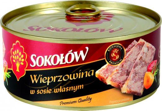 Sokolów Schweinefleich in eigenem Saft 300g