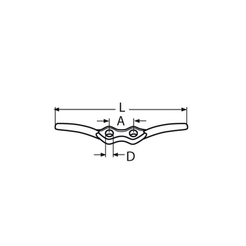 MARINOX Flaggenklampe Belegklampe | 68 - 150 mm | V4A – Bild 4