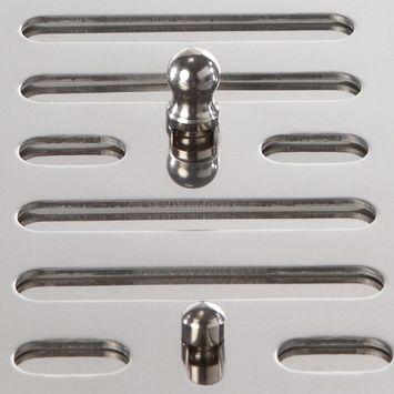 MARINOX Lüftungsgitter Lüftungsblech | 152 x 76 mm | V4A – Bild 3