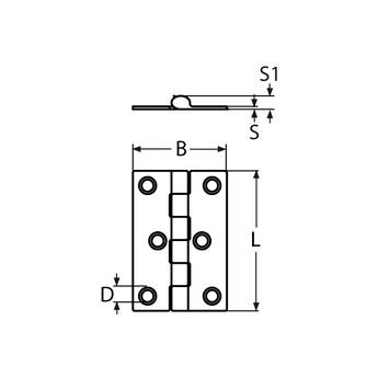 MARINOX Scharnier | 50 - 100 mm | V2A – Bild 4