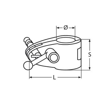 MARINOX Rohrmittelstück mit Knebel | V4A – Bild 4