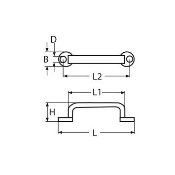 MARINOX Bügelgriff Schubladengriff | 65 - 100 mm | V2A – Bild 4