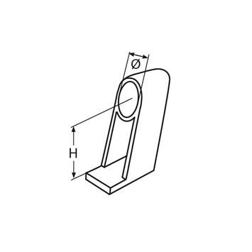 MARINOX Handlaufdurchlass 60° | V4A – Bild 4