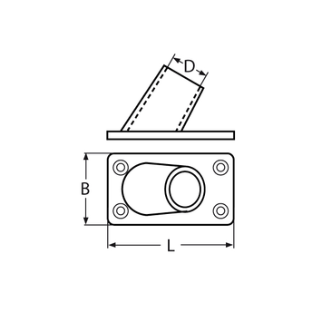 MARINOX Relingsfuss 60° | V4A – Bild 4