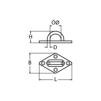 MARINOX Deckstplatte Augplatte | 60 - 80 mm | V2A – Bild 4