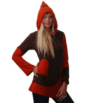 Fleecepullover with elfin hood Goa Psy Hippie Fraggle – Bild 1