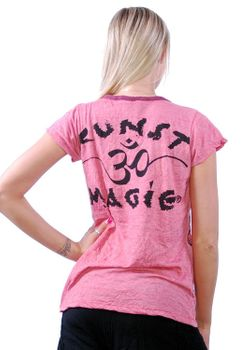 70er Retro Top Sure Magic Mushroom Psy Goa T-Shirt Girlie rosa – Bild 2
