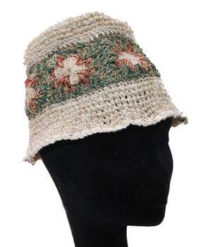 Mütze / Hut aus Hanf Boho Hippie Goa Hanfhut