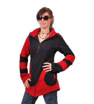 Extravagant Goa Fleece Jacket with Detachable Elfin Hood/Rot – Bild 3