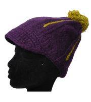 Strickmütze Mütze aus Wolle mit Schirm - Fleecefutter Cap 001