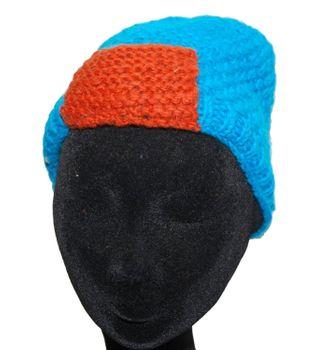 Strickmütze Mütze aus Wolle - Fleecefutter Beanie XS Blau