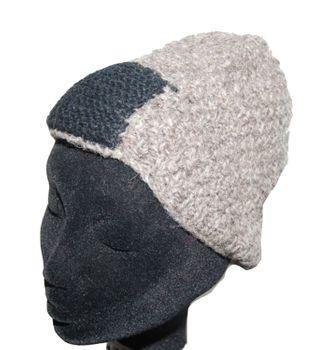 Strickmütze Mütze aus Wolle - Fleecefutter Beanie XS Beige