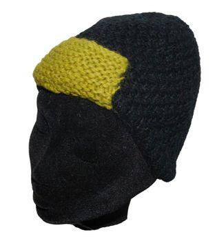 Strickmütze Mütze aus Wolle - Fleecefutter Beanie XS Schwarz