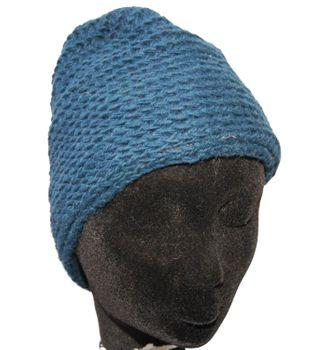 Strickmütze Mütze aus Wolle - Fleecefutter Beanie S