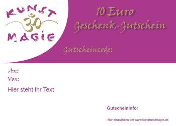 Geschenk-Gutschein im Wert von 10 Euro