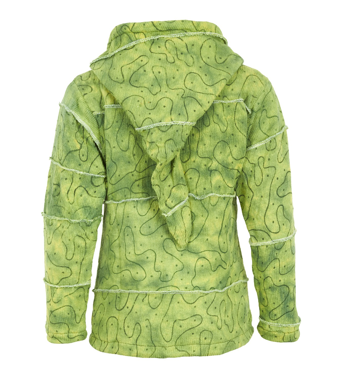 a707752b77d1 Warme Goa Strickjacke Jacke Zipfelkapuze Hippie