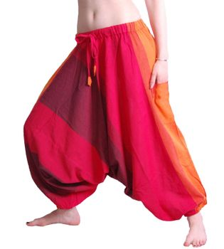 Kunst und Magie Women Harem Pants Sarouel Pants Shalwar Aladin Pants  in Awesome Red Shades