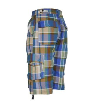 Checkered Bermuda Shorts in Cargo Style  – Bild 2