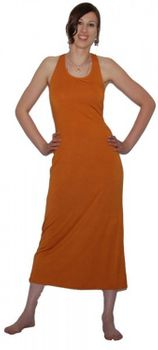 Langes dehnbares Sommerkleid Strandkleid orange