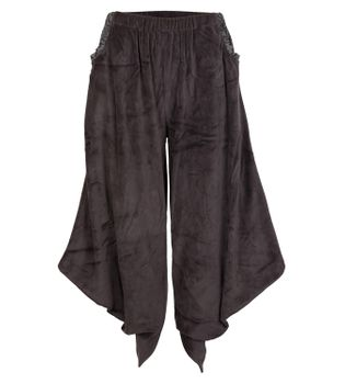 Sarouel Harem Pants Made From Velvet Aladdin Pants Gray