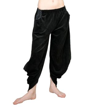 Sarouel Harem Pants Made From Velvet Aladdin Pants Black