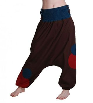 Psy Goa Hippie Pants Aladdin Pants Harem Pants with Lacing and Multicolored