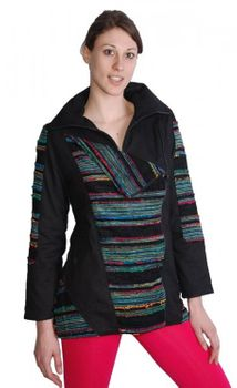 Boho Jacket Goa Psy Hippie Black