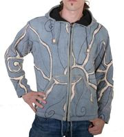 Goa Batik Cardigan Hippie jacket with zip hood for men 001