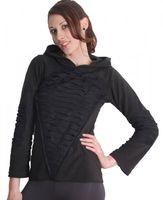 Elvish Fleece Sweater in Black with Elfin Hood 001