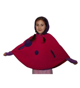 Kids Elfin Poncho from Fleece with Hood