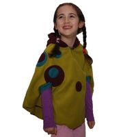 Kids Elfin Poncho made from Fleece with Hood 001