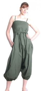Goa Overall Harem Pants Hippie Goa Psy Catsuit Green