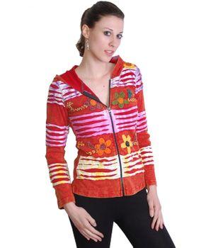 Handbestickte Hippie Goa Zipelkapuze Jacke im Razor Cut Design – Bild 2