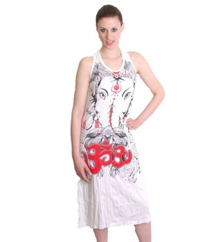 Ganesha Summer Dress Retro Hippie 70s T-Shirt Goa Sure – Bild 1