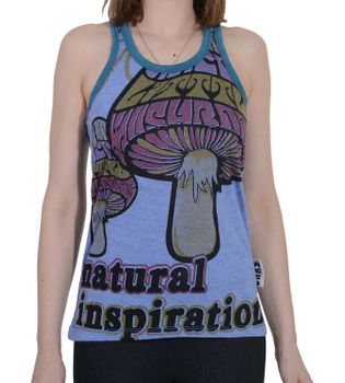 Magic Mushroom Goa Top Shirt Hippie 70er Retro – Bild 5