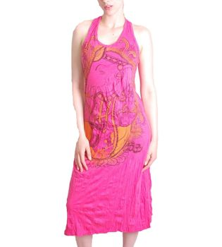 Ganesha Summer Dress Retro Hippie 70s T-Shirt Goa Sure Pink