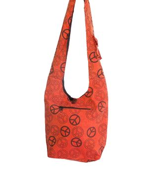 Ethno Hippie Bag Baba Peace Symbol Shoulder Bag Goa – Bild 3