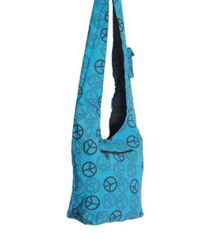 Ethno Hippie Bag Baba Peace Symbol Shoulder Bag Goa – Bild 5