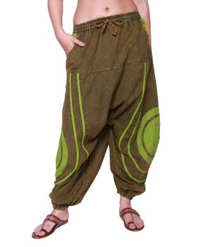 Psy Baggy Pants with Om Symbol – Bild 1