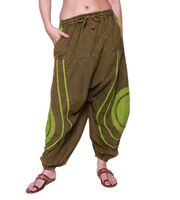 Psy Baggy Pants with Om Symbol 001