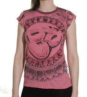 Sure 70s Retro WEED Top Goa Om Symbol Girlie T-Shirt 001