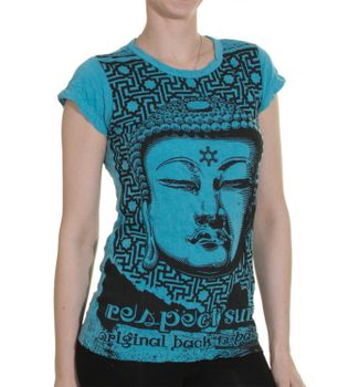 70er Retro T-Shirt Top Sure Buddha – Bild 2