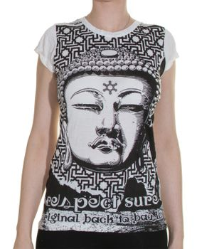 70er Retro T-Shirt Top Sure Buddha – Bild 1