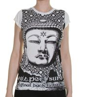 70s Retro T-Shirt Back to Basics Buddha Shirt 001