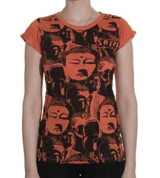 70s Retro T-Shirt Buddha Heads – Bild 6