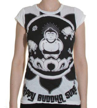 70s Retro T-Shirt Buddha Lotus