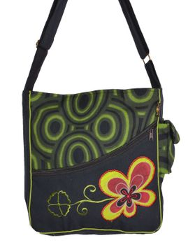"OM Hippie Shoulder Bag ""Nepal Flower"" Goa Bag – Bild 6"