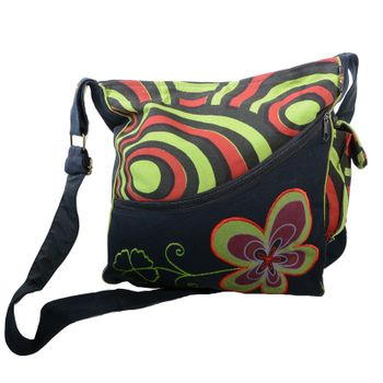 "OM Hippie Shoulder Bag ""Nepal Flower"" Goa Bag – Bild 18"