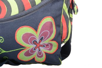 "OM Hippie Shoulder Bag ""Nepal Flower"" Goa Bag – Bild 22"